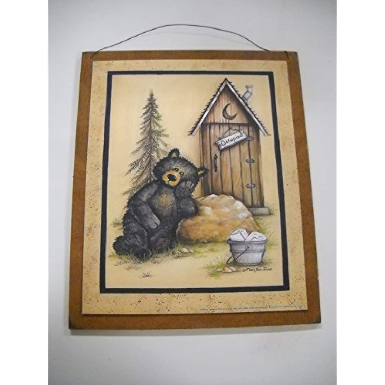 Occupied Outhouse Country Bear Bathroom Sign Lodge Bath Decor Stars Be Sure To Check Out This Awesome Bear Bathroom Decor Outhouse Bathroom Decor Bear Decor Country bear bathroom decor