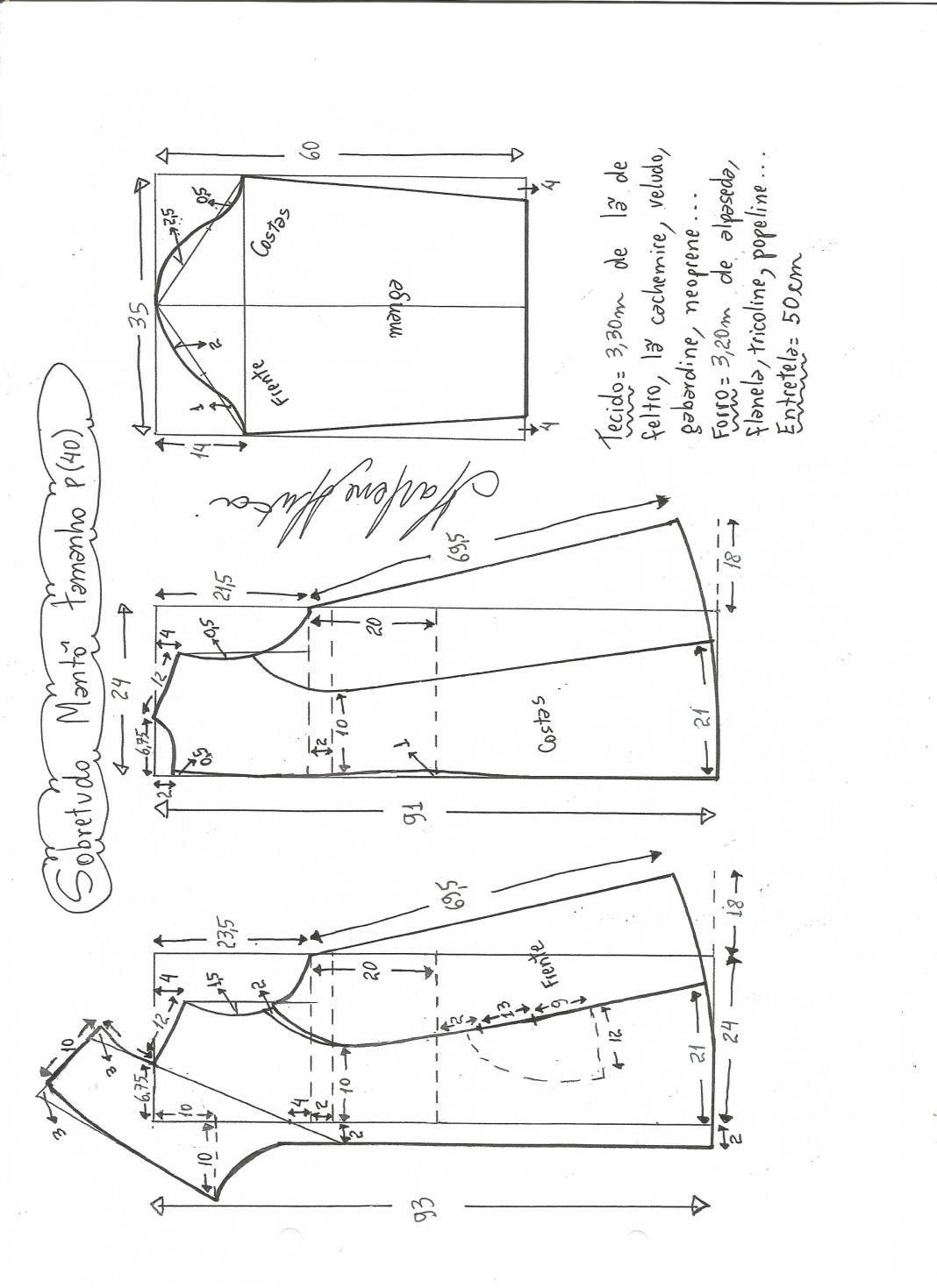 Patrón Abrigo especial embarazadas | moldes y patrones | Sewing ...