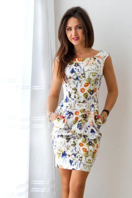 Sukienka Bombka We Wzor Polnych Kwiatow Dresses Fashion Clothes