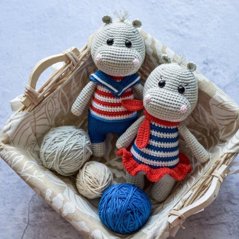 Crochet hippo amigurumi pattern   Amigurumi Space   768x768