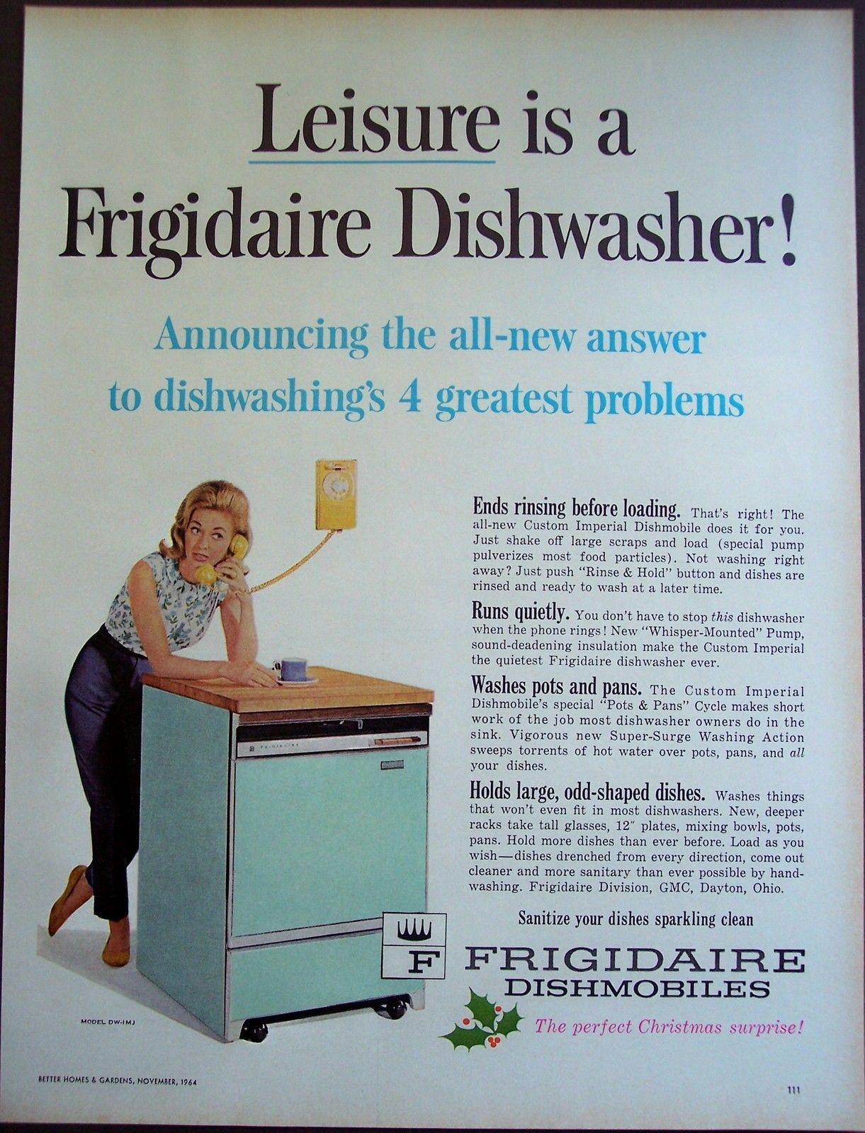 While a common component of today\'s kitchen, a dishwasher was still ...