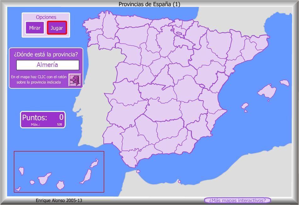 Mapa interactivo de Espaa Provincias de Espaa Dnde est