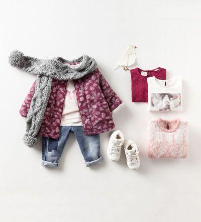 sitio de buena reputación 42f7e cbe32 Looks – Bebé Niña – Niños | ZARA España | Baby Outfit | Moda ...