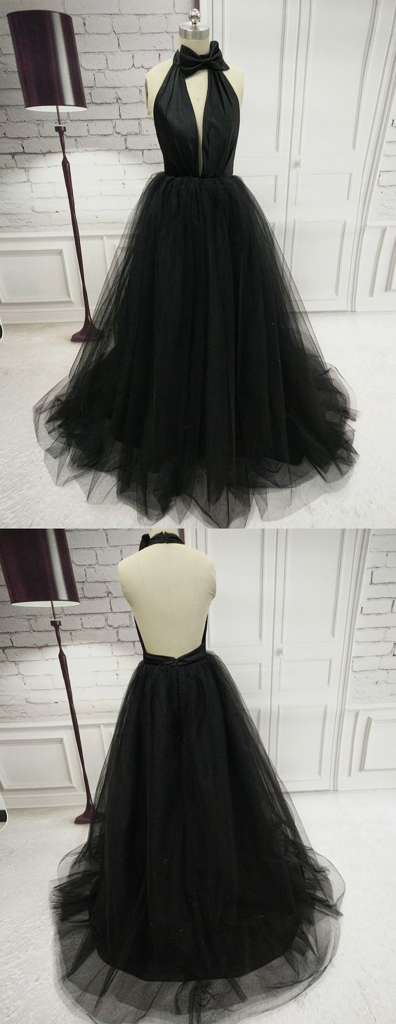 aline halter prom dresses black simple long prom dress evening