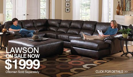 Jackson Lawson Sectional Living Room Set Option B : jackson leather sectional - Sectionals, Sofas & Couches