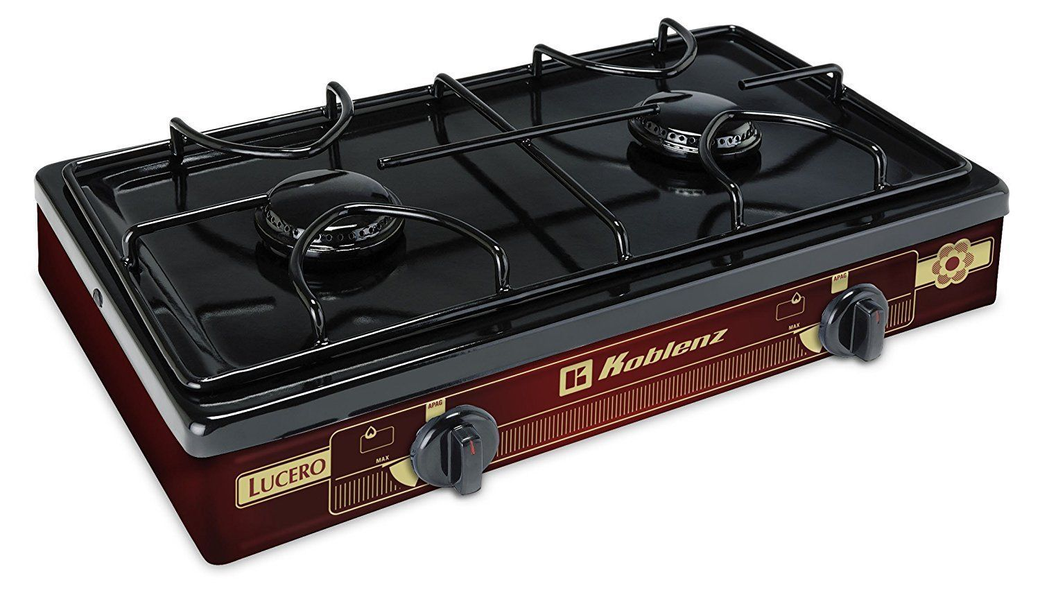Portable Propane Gas Stove Cooktop Outdoor Hiking Travel Camping 2 Burner Cooker