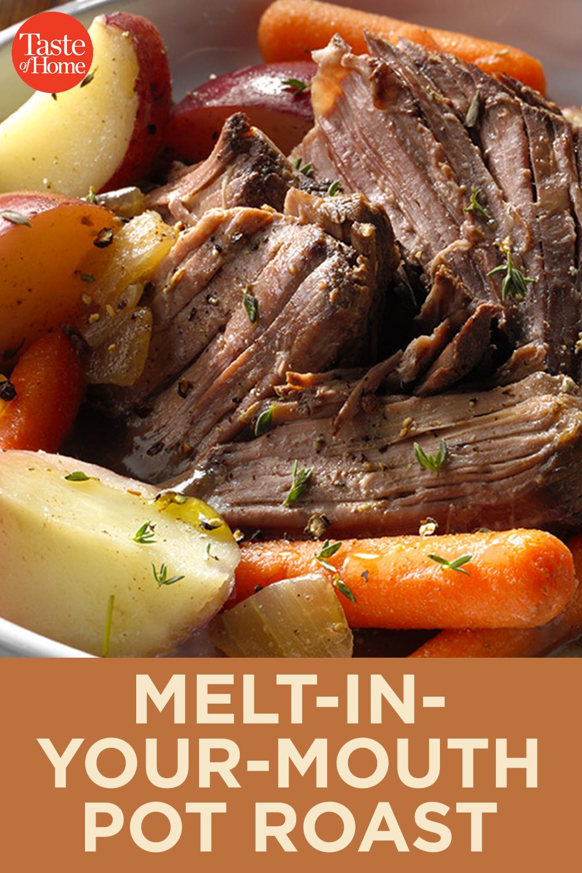 Melt In Your Mouth Pot Roast Recipe Pot Roast Slow Cooker Crockpot Roast Roast Beef Crock Pot Recipes