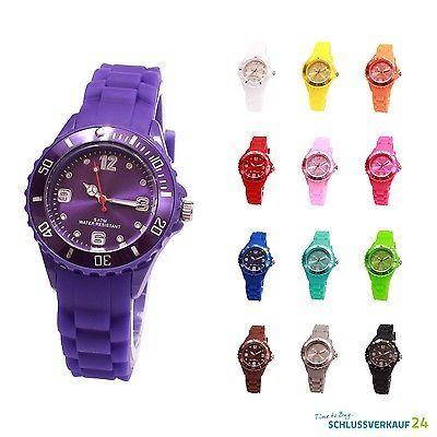 Details zu sv24 Silikon Armbanduhr Damen Herren Kinder Uhr Bunte - grose wohnzimmer uhren