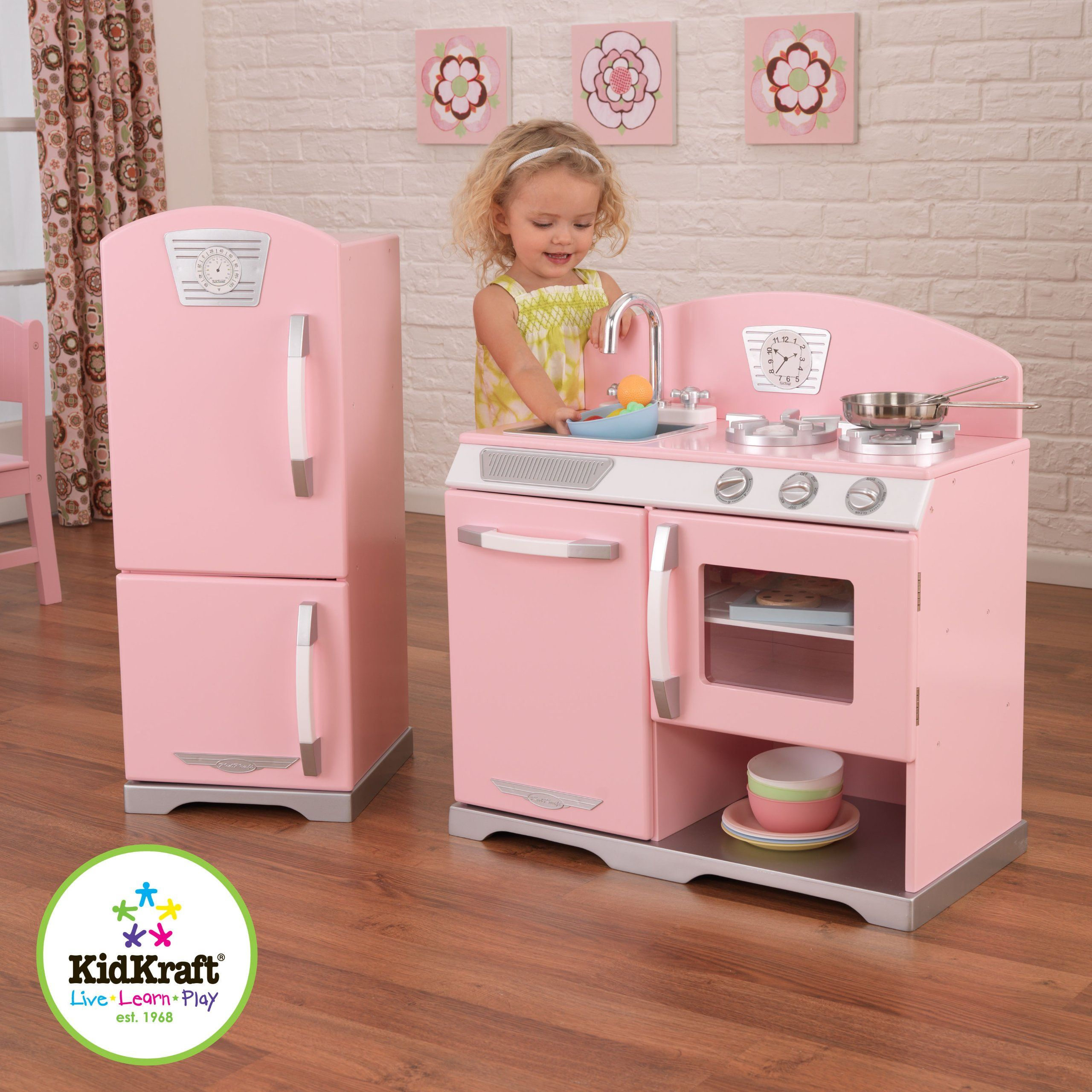 Kidkraft Küchen Amazon.com: Kidkraft Retro Kitchen And Refrigerator In
