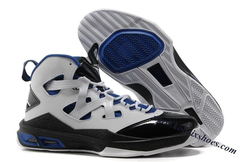 Carmelo Anthony Shoes Air Jordan Melo 9 White Black Blue