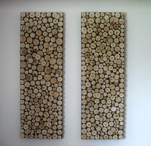 Wood Wall Art Diy diy idea: wood slice wall art | living rooms and walls