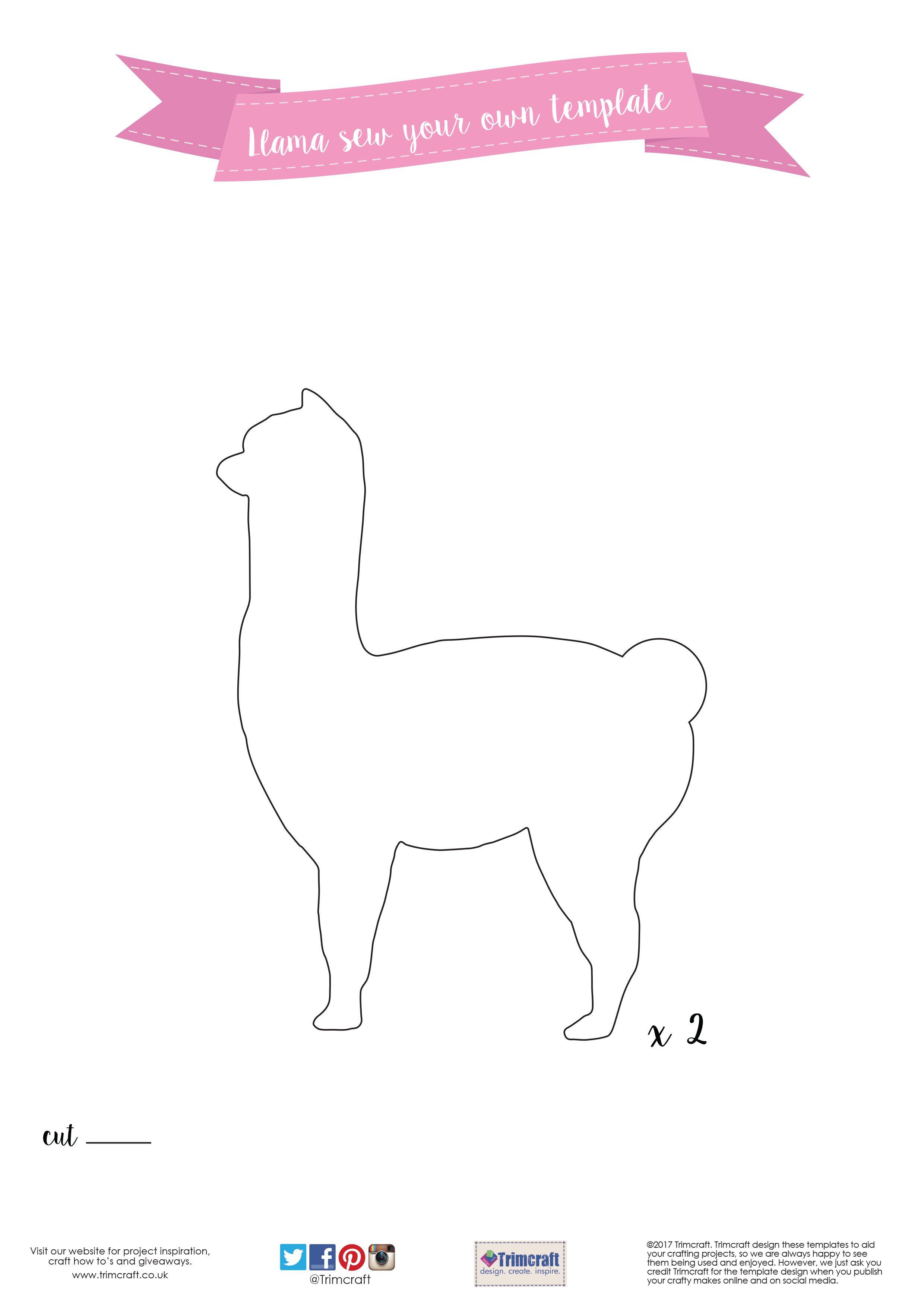 DIY Dovecraft Felt Llama Pin Cushion Tutorial with Free Printable ...