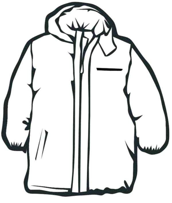 Coat Winter Clothes Coloring Pages to print for kids Denenecek