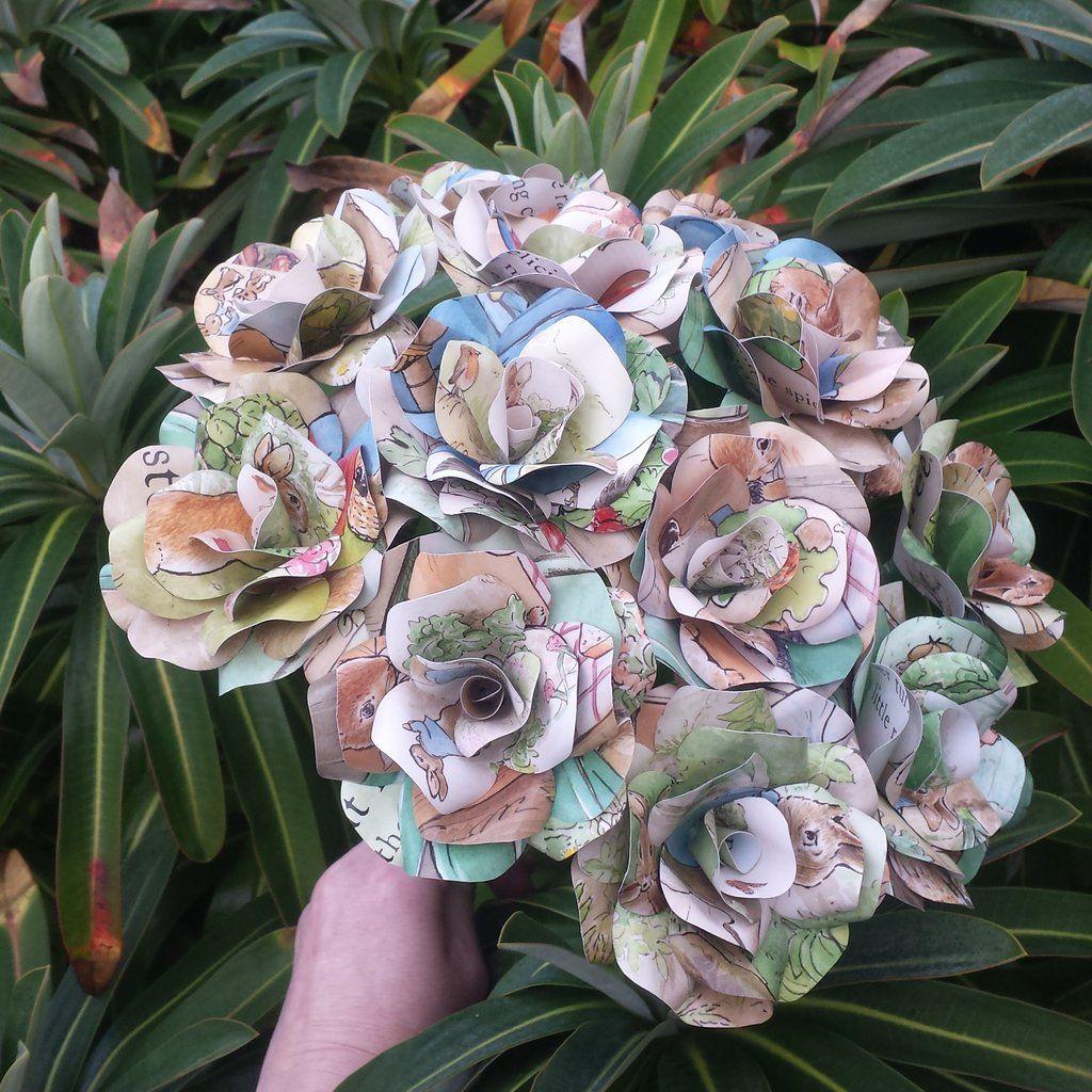 Peter Rabbit Paper Roses  Beatrix Potter Paper Flowers  Bella