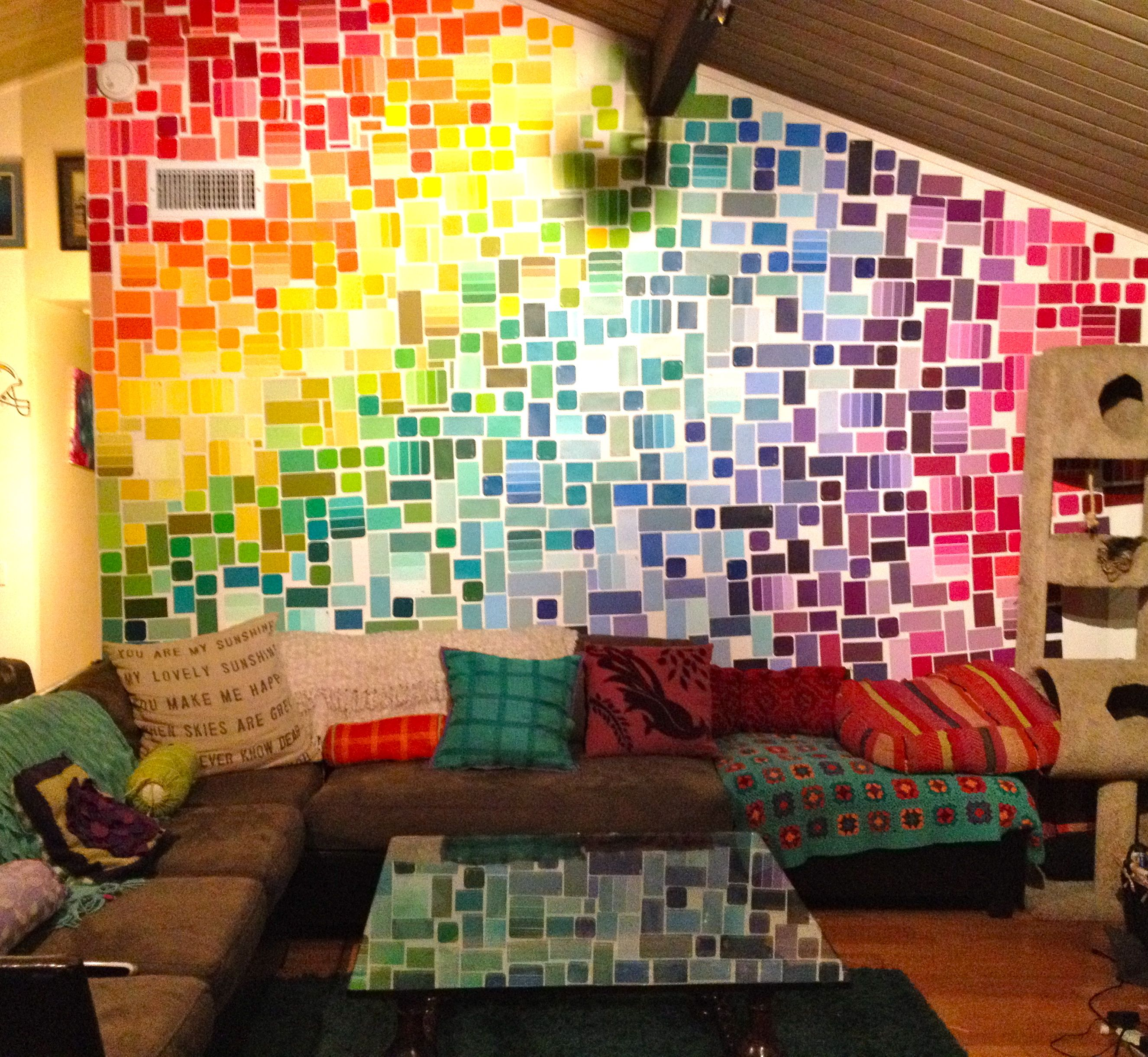 Paint Chip Wall I39m In Awe But Don39t Think I Could