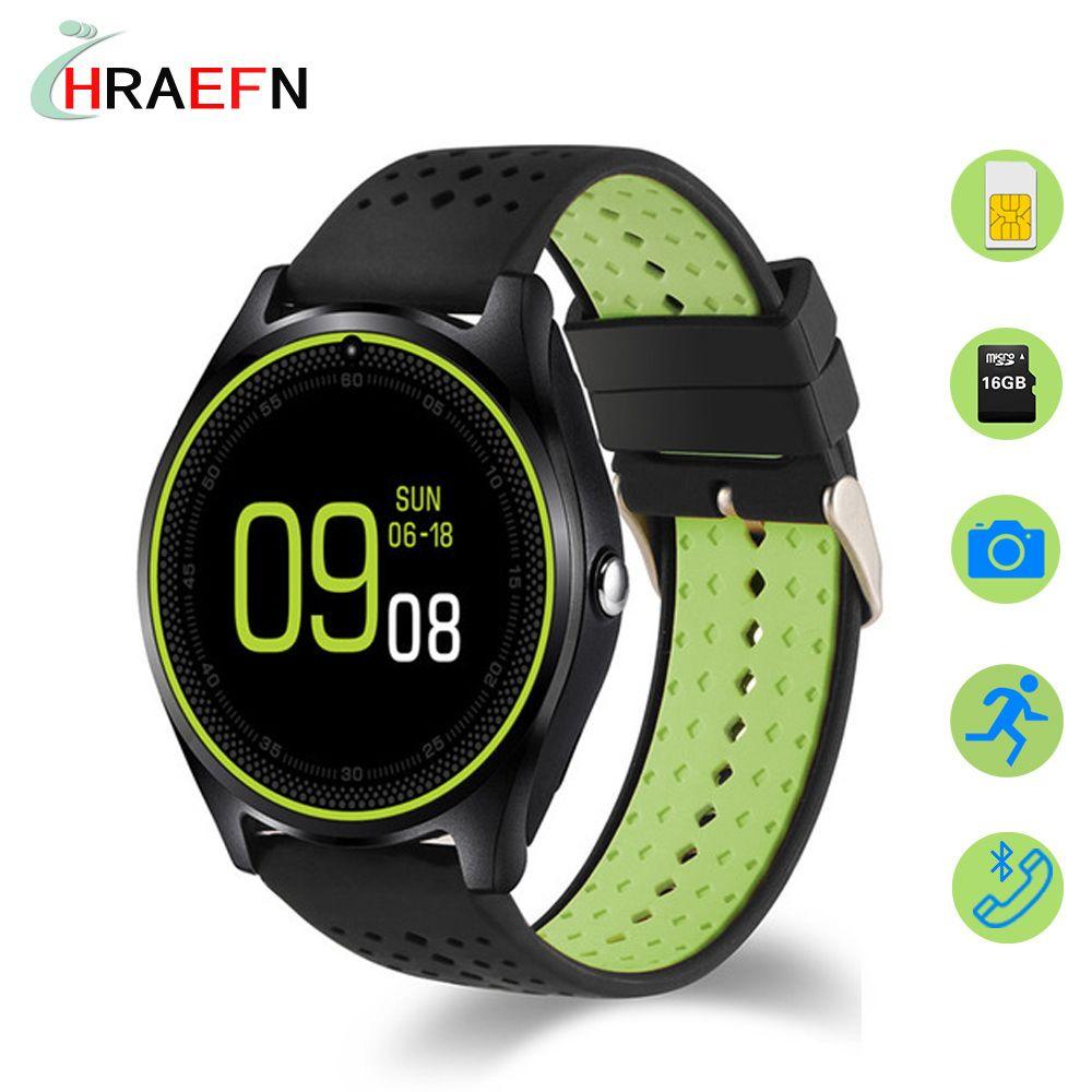 Купить товар Смарт часы V9 Reloj inteligente SIM карты SmartWatch фитнес  трекер Спорт Часы для andorid 1ebf73b6b16