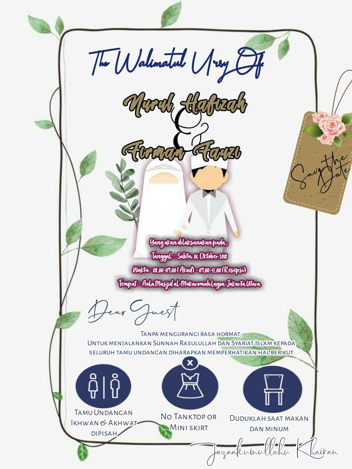 Pin Oleh Letshuzaifah Designstore Di Undangan Digital Undangan Pernikahan Lucu Undangan Pernikahan Kartu Undangan Pernikahan
