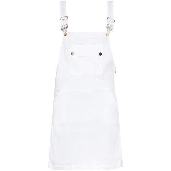 c4075333c6d Frame Denim Le Apron overall denim dress (2.912.240 IDR) ❤ liked on  Polyvore featuring dresses