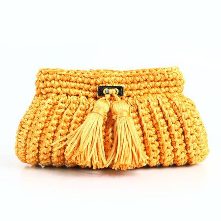 679d5620b Clutch Cantiga •canarinho - Catarina Mina | Crochet | Bolsas de ...