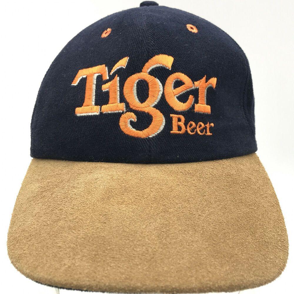 e97ed48ea301ee Tiger Beer Baseball Cap Hat Adjustable Hook   Loop Strapback Blue Brown   TigerBeer  BaseballCap