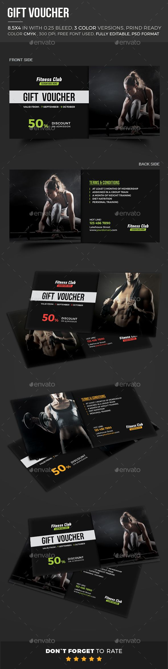 Fitness gift voucher loyalty cards cards invites instant fitness gift voucher loyalty cards cards invites instant download http free gift certificate templategift yadclub Gallery
