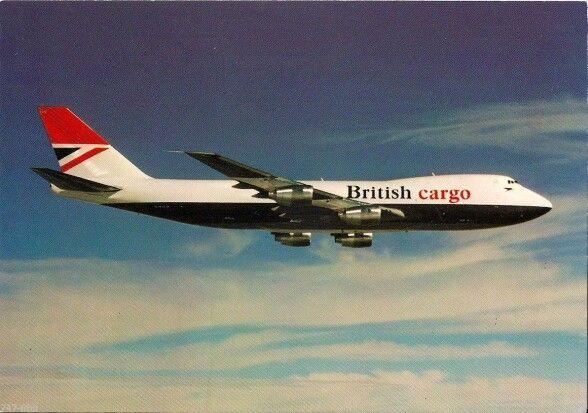 British Airways Cargo Boeing 747 Postcard