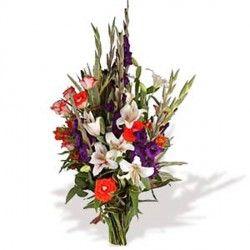 Mazzo Di Fiori Lungo.Bouquet Colorato Fiori