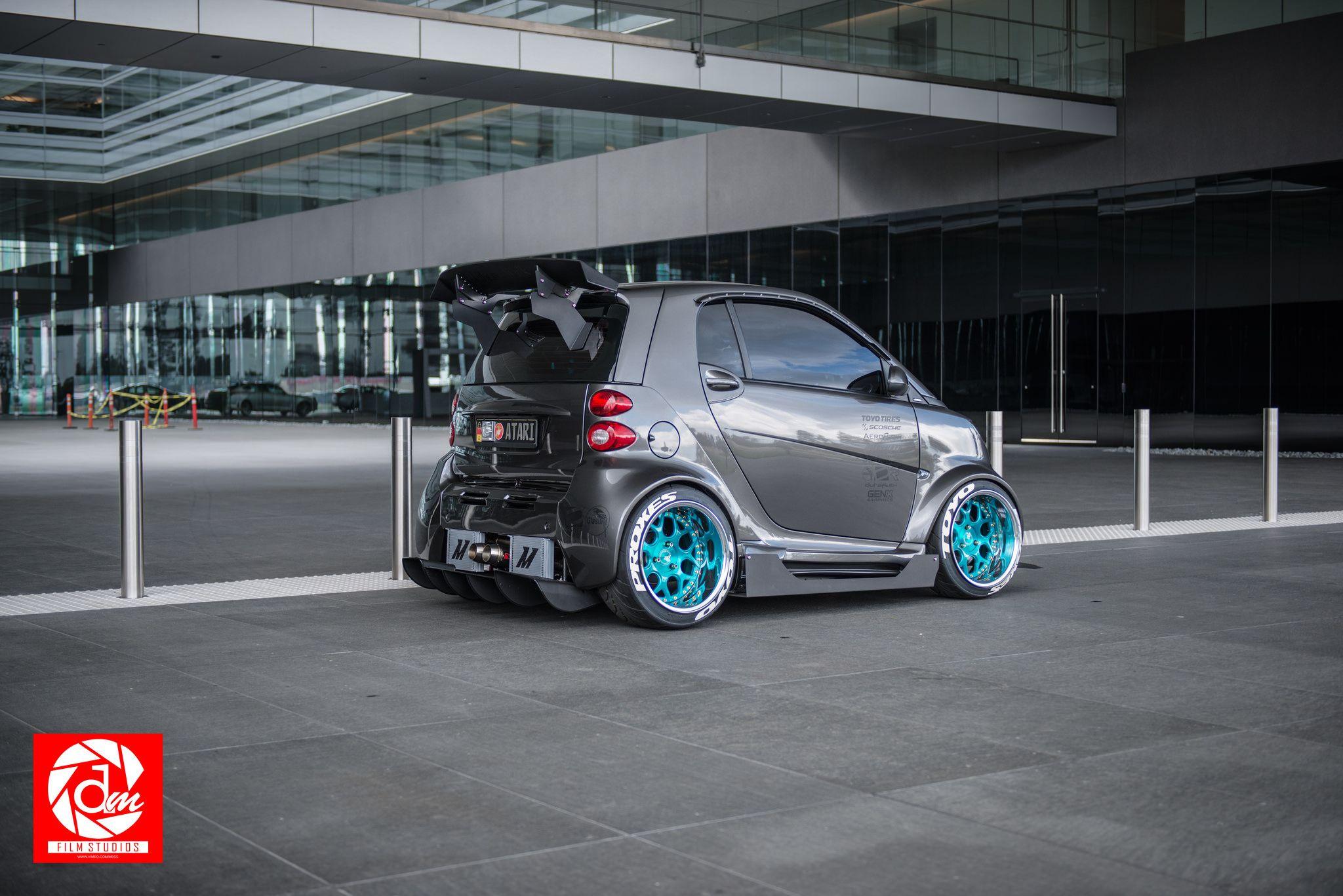 Ever Seen A Smart Car Like This Before Smart Car Car Smart Car Body Kits