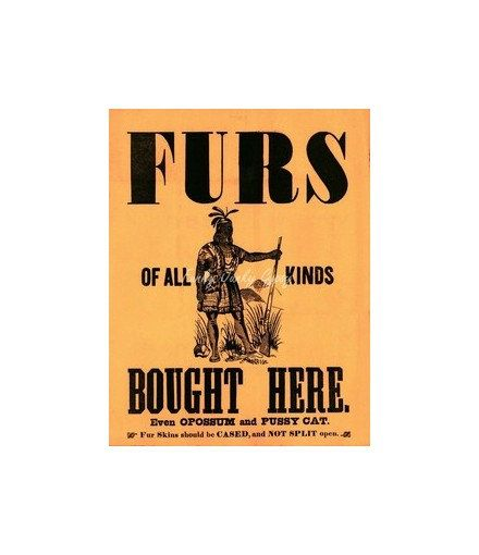 Vintage Native American Indian Fur Trading Sign By Funkyjunkygypsy
