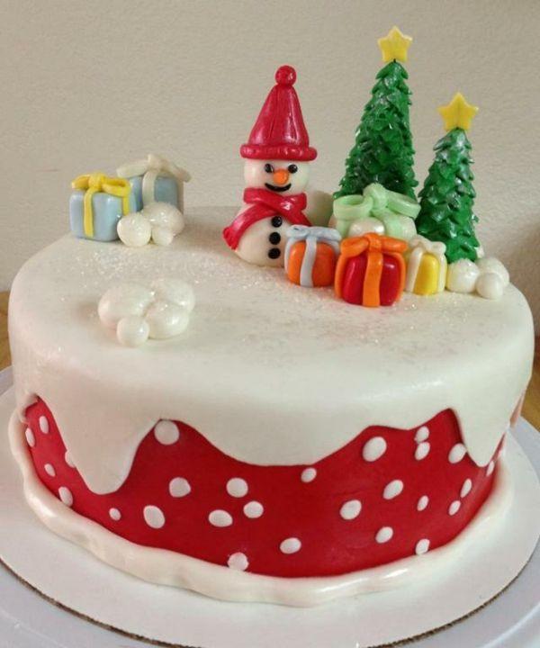 kreative Dekoration für eine Weihnachtstorte | Weihnachten / Winter ...