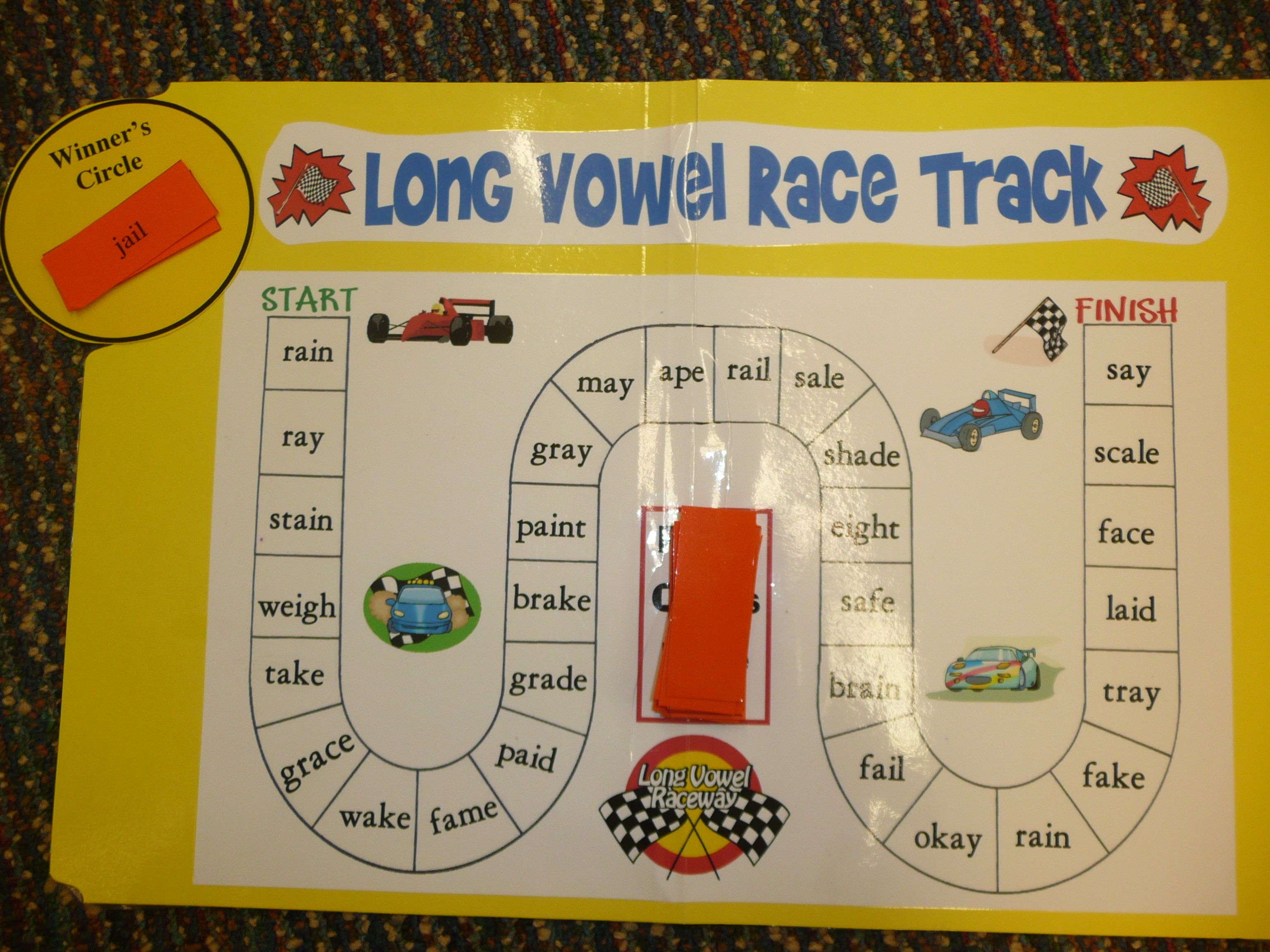 Long Vowel Race Track Game