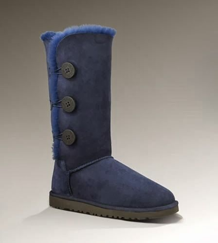 259acbe1dbe UGG with Dark Blue Color and Bailey Button Triplet 1873 Grey | Shoes ...