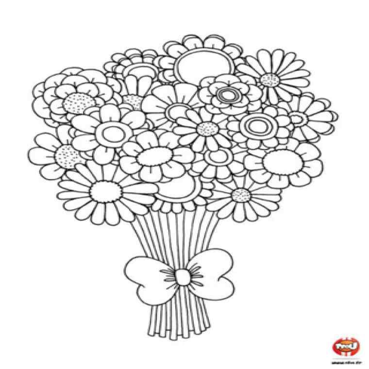 Coloriage Bouquet De Fleurs A Imprimer Nouveau Pin Coloriage De Bouquet Fleur On Pinterest Coloriage Coloriage Coeur Bouquet De Fleurs