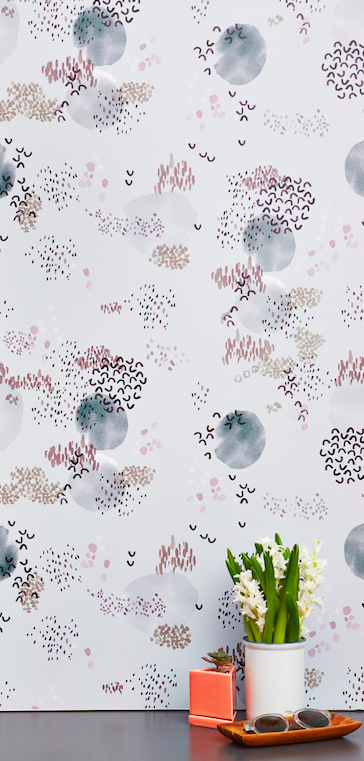 Created by featured designer Kelly Ventura. This stunning hand watercolor beauty is fantastic for an entire wall or a small detailed DIY pop!