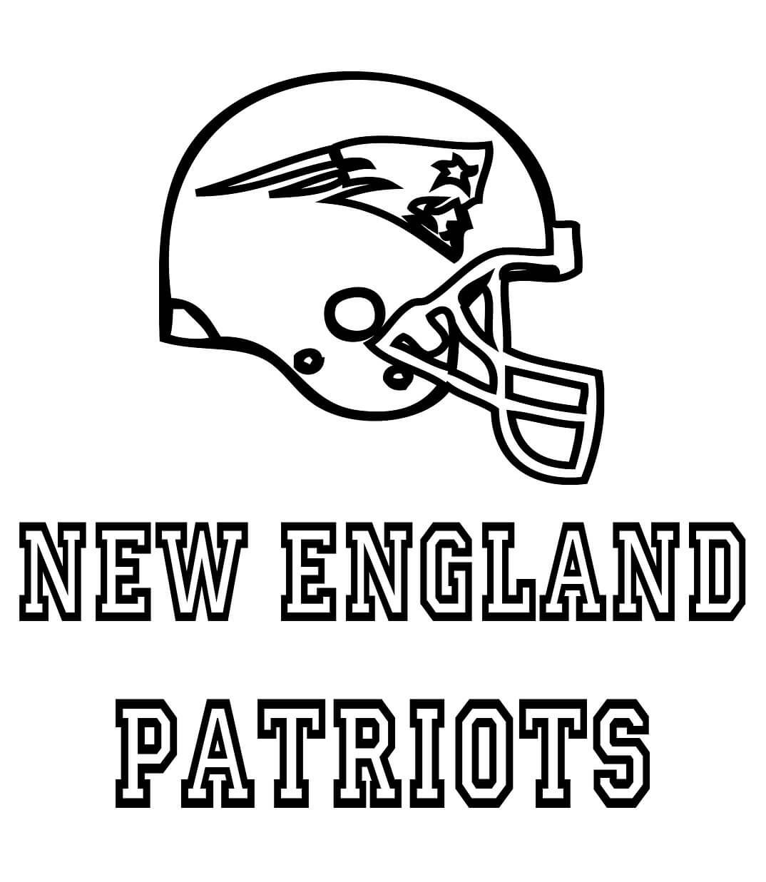 Free New England Patriots Coloring Pages Papercraft New