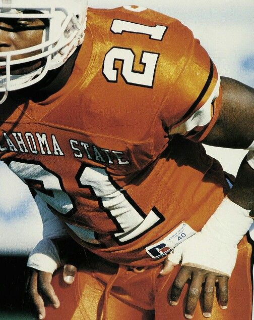 Barry Sanders Football Helmets Osu Cowboys Oklahoma State Cowboys