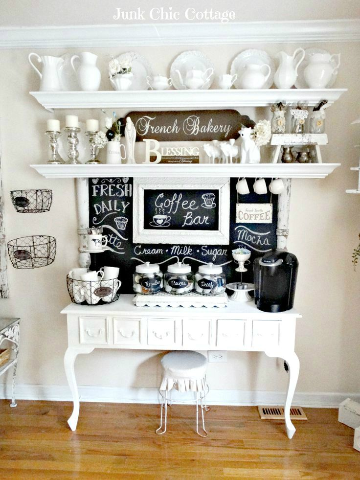 40 Ideas To Create The Best Coffee Station | Pinterest | Coffee, Bar ...