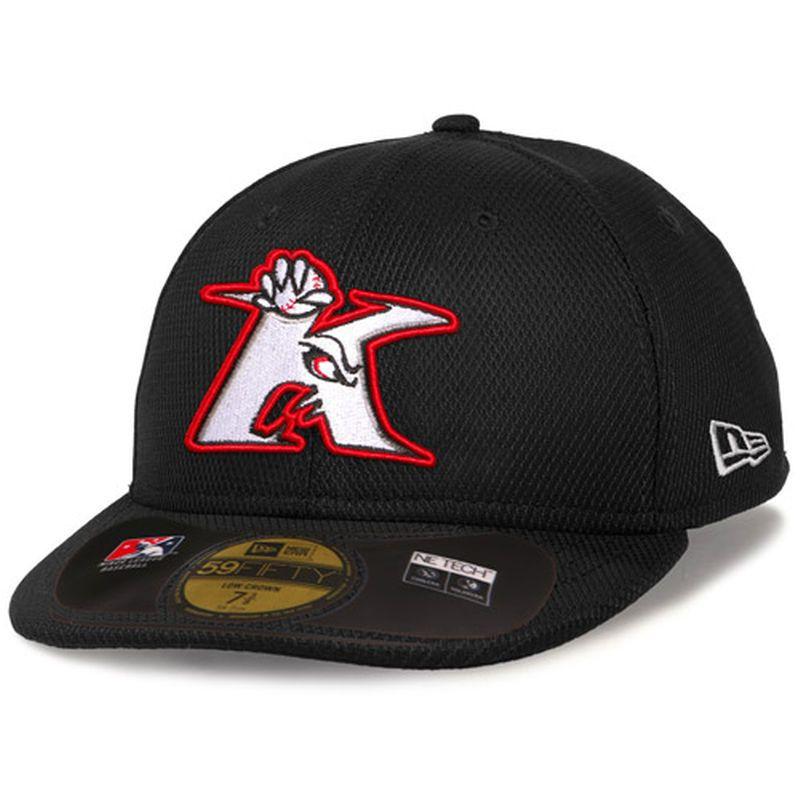 Kannapolis Intimidators New Era Low Crown Diamond Era 59FIFTY Fitted Hat -  Black 2d2eda27bf5