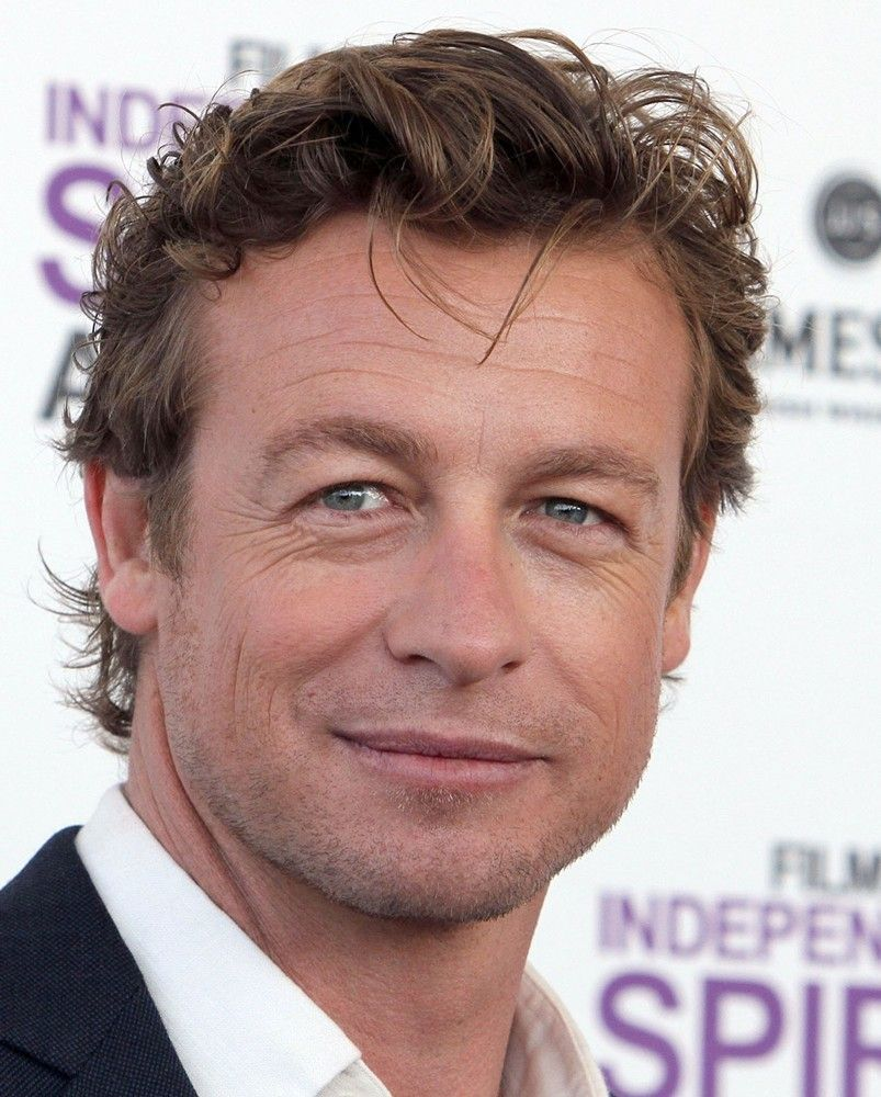 Den 48-år gammal, 178 cm lång Simon Baker in 2018 photo