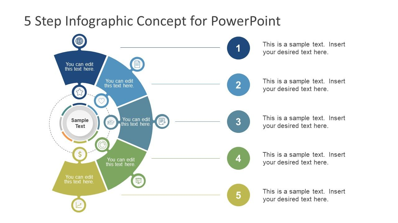 5 Step Infographic Concept For Powerpoint Infographic