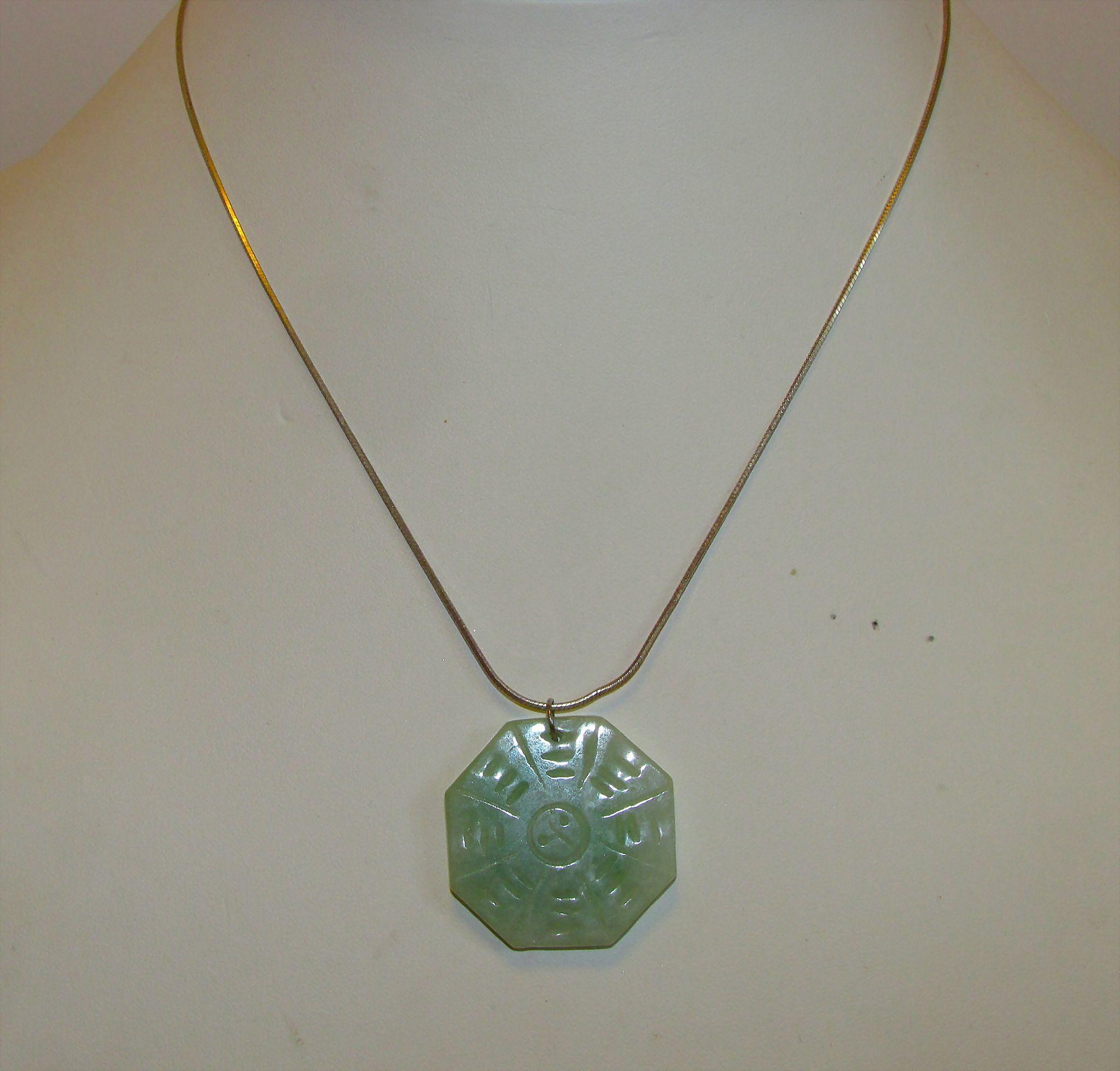 Vintage green jadeite jade semi transluscent hand carved yin yang vintage green jadeite jade semi transluscent hand carved yin yang symbol pendant sterling silver necklace buycottarizona Gallery