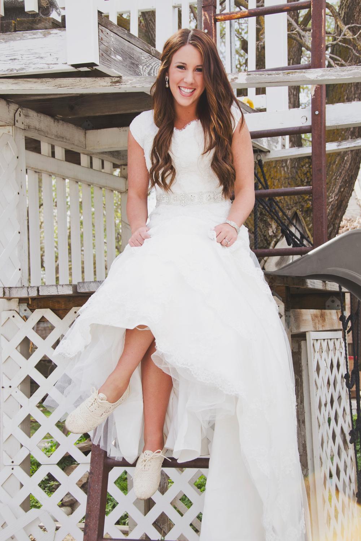 outdoors bridals modest wedding dress sneakers. Utah wedding ...