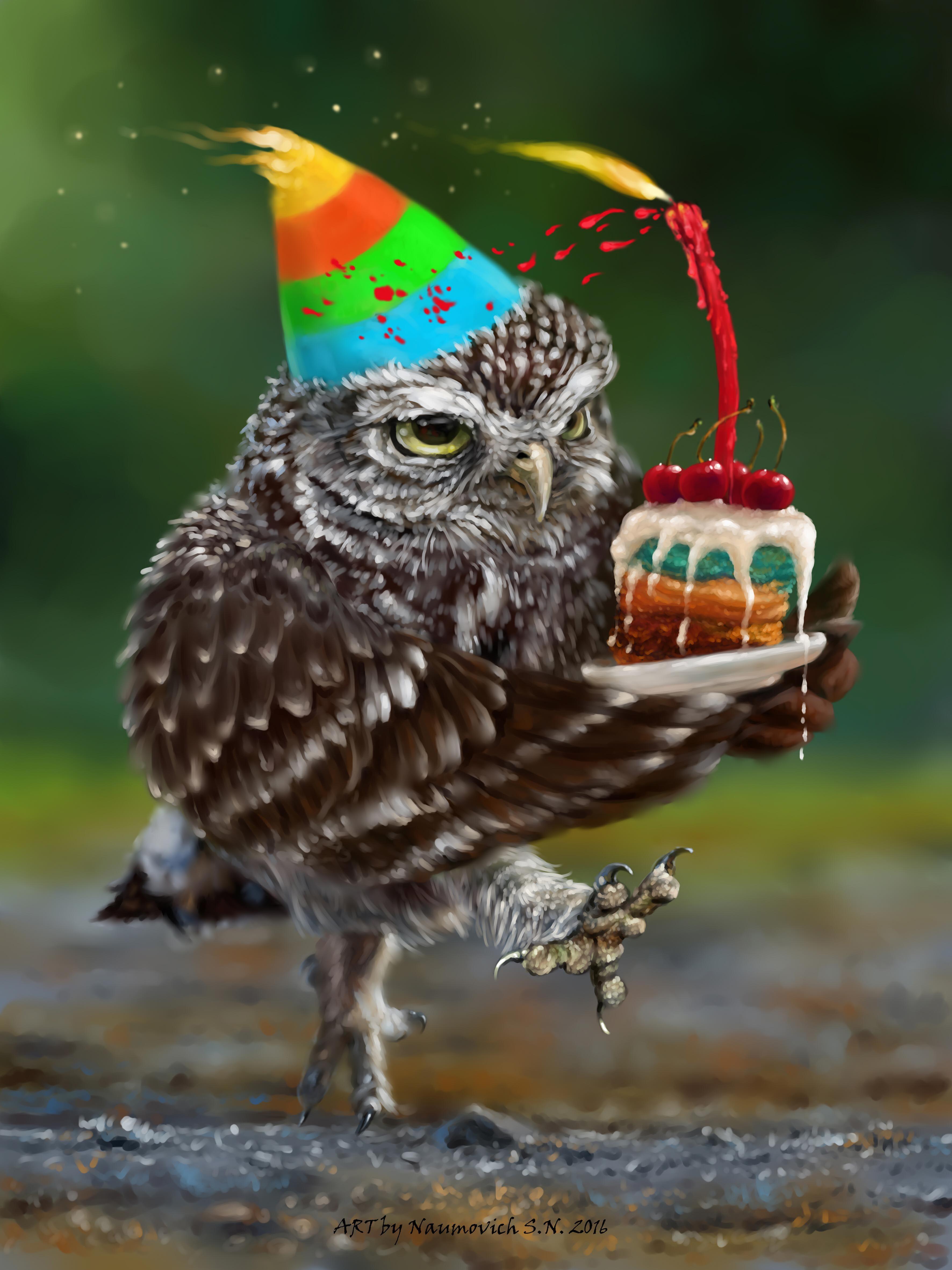 глаз поздравление для птички фотообоев- веселое