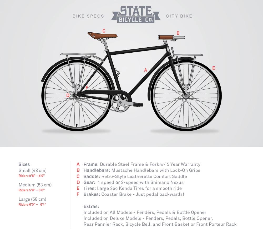 The Elliston Deluxe City Bikes Dutch Bicycles Custom Bikes