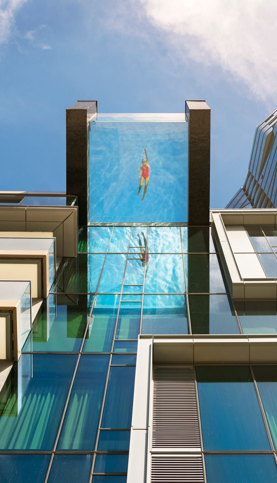 this glass bottom pool in honolulu has the most breathtaking views video glass oahu hawaii