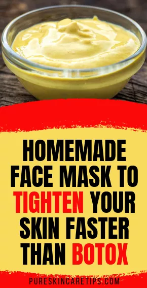 Homemade Face Mask To Tighten Your Skin Faster Than Botox
