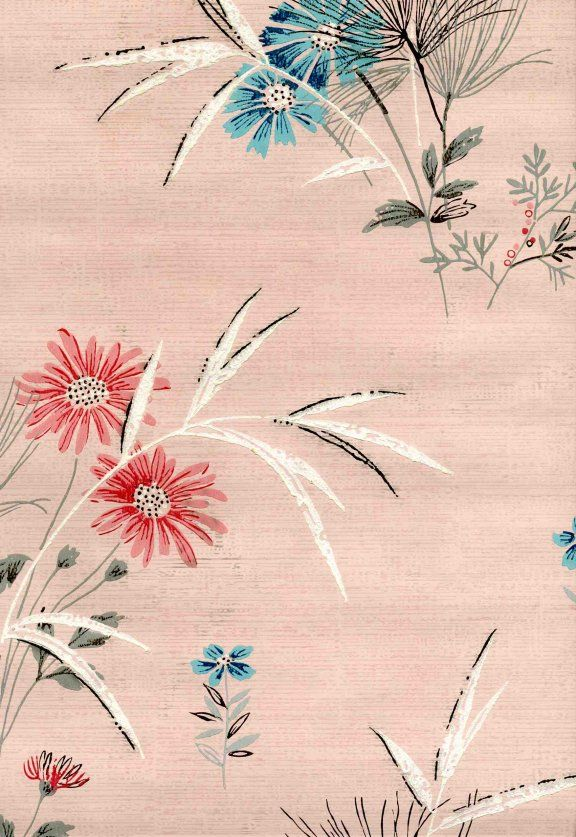 Wallpapers For Sumac Sue S 50s Bathroom Vintage Wallpaper