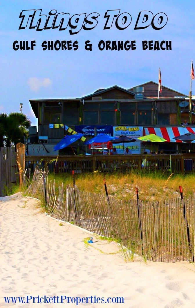 Fun Things To Do In Gulf Ss And Orange Beach Alabama