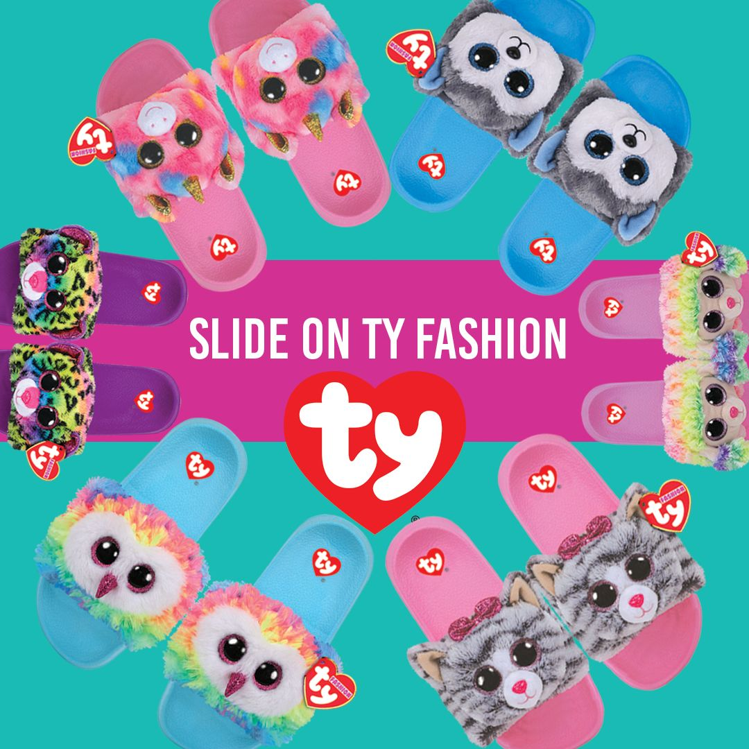 b57acede8621 Slide on Ty Fashion Slides.