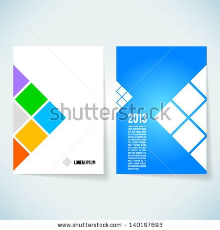 Brochure cover design vector template by tupia, via Shutterstock - cover template